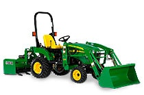 Image of a John Deere 2305 4-wheel drive Compact Tractor