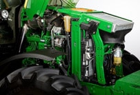 Closeup of the 6R Series Tractor's PowerTech™ engine