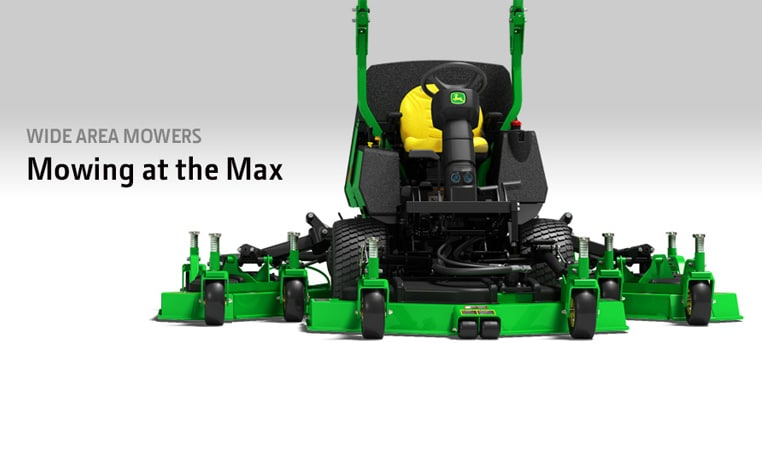 Studio image of a John Deere wide area mower