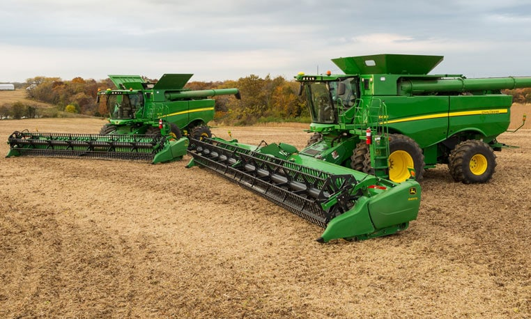 family photo of machines in field
