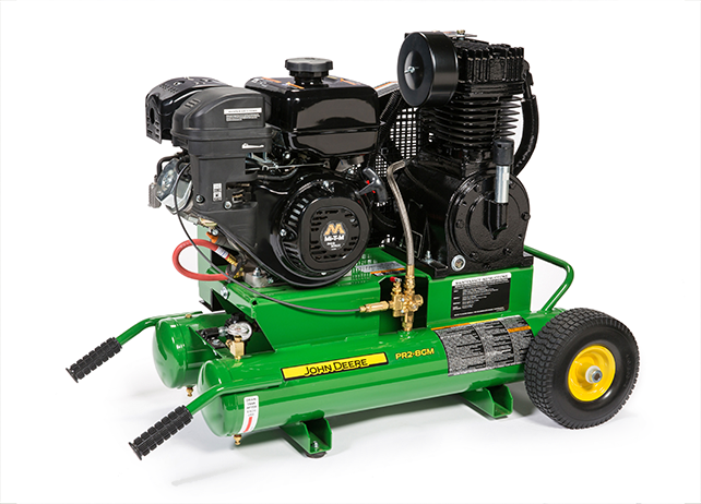 PR2-8GM 8-Gallon, Twin-Tank, Two-Stage Air Compressor